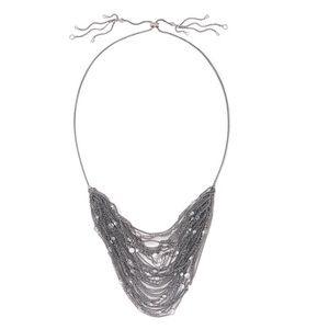 KENDRA SCOTT • Anastasia Bib Necklace in Hematite